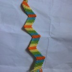 Zig Zag Pattern Friendship Bracelet | Green Yellow Red